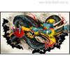 Dragon Graffiti Painting Canvas Print