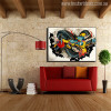 Dragon Graffiti Painting Canvas Print for Living Room Wall Decor