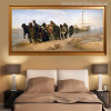 Barge Haulers on the Volga Painting Print for Bedroom Decoration