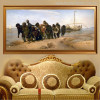 Barge Haulers on the Volga Painting Canvas Print for Wall Decoration