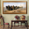 Barge Haulers on the Volga Painting Canvas Print for Dining Room Decor