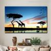 African Savannah Modern Painting Print for Living Room Decor