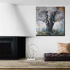 Elephant Abstract Modern Painting Print for Living Room Decor