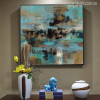 Blue Abstract Modern Painting Print