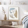 Slurs Abstract Modern Framed Painting Photograph Canvas Print for Room Wall Ornament