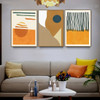 Resections Abstract Scandinavian Framed Artwork Picture Canvas Print for Room Wall Outfit