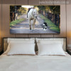 A Dog Leads a Horse Modern Picture Print for Bedroom Wall Decor