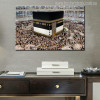 Masjid Al Haram Modern Islamic Image Canvas Print for Wall Decor