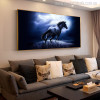 Dashing Horse Modern Animal Photo Canvas Print for Living Room Decor