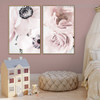 Anemone and Roses Floral Contemporary Framed Painting Portrait Canvas Print for Room Wall Moulding