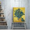 Irises Posy Impressionist Painter Van Gogh Painting Canvas Print for Room Wall Decor