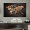 Globe Design Modern World Map Painting Print