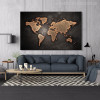 Globe Design Modern World Map Painting Canvas Print