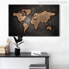 Globe Design Modern World Map Painting Canvas Print for Wall Decor