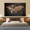 Globe Design Modern World Map Painting Print for Bedroom Wall Decor