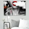 Women Smoke Contemporary Picture Canvas Print