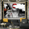 Women Smoke Contemporary Picture Print for Living Room Decor