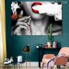Women Smoke Contemporary Image Print for Room Decor
