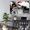 Women Smoke Contemporary Photo Print for Wall Decor