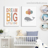 Colorific Balloons Kids Contemporary Framed Portraiture Image Canvas Print for Room Wall Assortment
