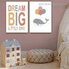 Colorific Balloons Kids Contemporary Framed Portraiture Image Canvas Print for Room Wall Decor