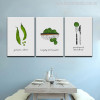 Green Vegetables Modern Typography Painting Print for Dining Room Decor