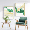 Vert Surf Abstract Nature Modern Framed Painting Photo Canvas Print for Room Wall Garnish