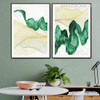 Vert Surf Abstract Nature Modern Framed Painting Image Canvas Print for Room Wall Ornamentation