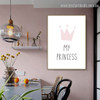 My Princess Abstract Typography Modern Framed Painting Pic Canvas Print for Room Wall Decor