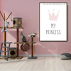 My Princess Abstract Typography Modern Framed Painting Picture Canvas Print for Room Wall Garnish