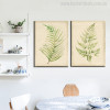Leaves Modern Watercolor Painting Print for Dining Room Wall Decoration