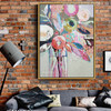 Hued Posy Abstract Watercolor Painting Canvas Print for Wall Decor
