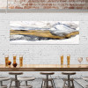 Mountain Abstract Stylish Watercolor Painting Canvas Print
