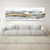 Cool Mountains Abstract Modernistic Watercolor Painting Print for Living Room Decor