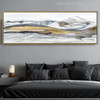 Cool Mountains Abstract Modernistic Watercolor Painting Canvas Print for Living Room Wall Art