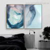 Ocean Marble Abstract Watercolor Nordic Framed Painting Pic Canvas Print for Room Wall Decoration