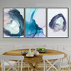 Blue Texture Abstract Watercolor Nordic Framed Painting Pic Canvas Print for Room Wall Decor
