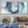 Violet Shade Abstract Watercolor Nordic Framed Portrayal Image Canvas Print for Room Wall Decor