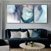 Violet Shade Abstract Watercolor Nordic Framed Portrayal Picture Canvas Print for Room Wall Adornment