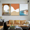 Biege Summer Walls Abstract Nature Landscape Modern Framed Painting Pic Canvas Print for Room Wall Décor