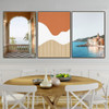 Biege Summer Walls Abstract Nature Landscape Modern Framed Painting Portrait Canvas Print for Room Wall Drape