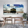 Sacred Mosque Muslim Religious Modern Canvas Painting Print for Dining Room Decor