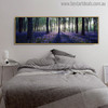 Forest Steppe Modern Landscape Painting Canvas Print for Bedroom Decor