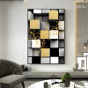 3D Cubes Abstract Nordic Geometric Modern Painting Image Canvas Print for Room Wall Flourish