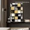 3D Cubes Abstract Nordic Geometric Modern Painting Picture Canvas Print for Room Wall onlay