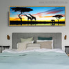 African Forest Modern Landscape Painting Print for Bedroom Wall Ornament