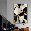 Black Yellow Marble Abstract Nordic Geometric Modern Painting Photo Canvas Print for Room Wall Garnish