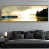 Riverside Landscape Modern Painting Canvas Print for Living Room Ornament