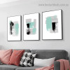 Black Tortoise Pattern Abstract Modern Artwork Portrait Canvas Print for Room Wall Adornment