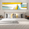 Gold Sea Abstract Landscape Modern Smudge Pic Canvas Print for Room Wall Onlay